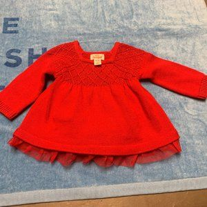 Cat & Jack Size Newborn Red Sweater Outfit